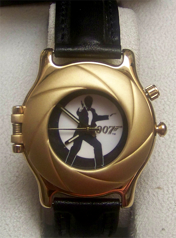 bond 007 fossil li 1638 mens gold limited edition