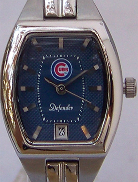 Chicago Cubs Fossil Ladies 3 Hand Analog Logo Watch