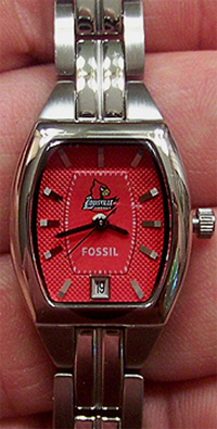 Louisville Cardinals Fossil 3 hand Womens watch w date display Li3051