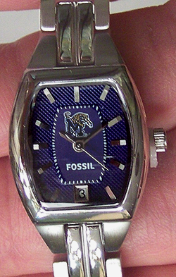 Memphis Tigers Fossil Womens Ladies 3 Hand Analog Watch with Date
