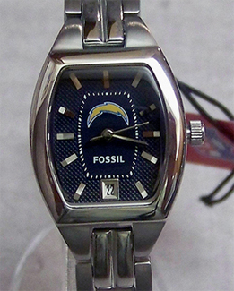 San Diego Chargers Fossil Watch Ladies Three Hand Cushion